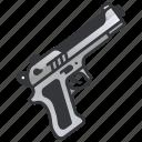 firearm, gun, handgun, pistol, police, revolver, weapon icon
