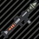 anti, bazooka, launcher, rocket, rpg, tank, weapon icon