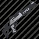 gun, weapon, shot, shotgun, hunter, military icon