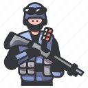 military, police, rifle, shotgun, swat, tactical, weapon icon