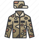 army, camouflage, infantry, military, soldier, uniform, war icon