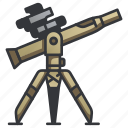 anti, launcher, military, missile, rocket, war, weapon icon