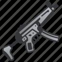 assault, gun, machine, military, rifle, submachine, weapon icon
