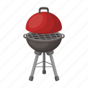 barbecue, brazier, design, grill, lid, metal icon