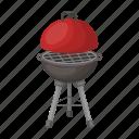 barbecue, brazier, design, grill, lid, metal icon