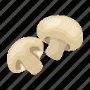 delicacy, food, grill, half, mushroom icon