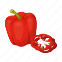 bulgarian, food, pepper, salad, seasoning, vegetable, vitamin icon
