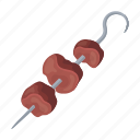 grill, meat, kebab, food, skewer, shish, piece icon