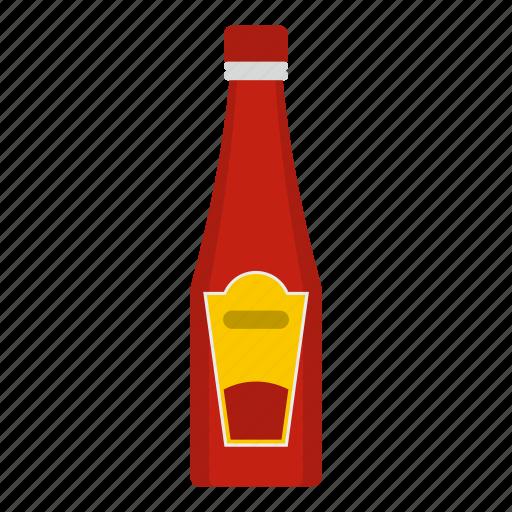 bottle, condiment, food, ketchup, plastic, tomato, white icon