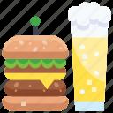 beer, berger, drink, food