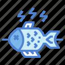 fish, food, gastronomy, grill icon