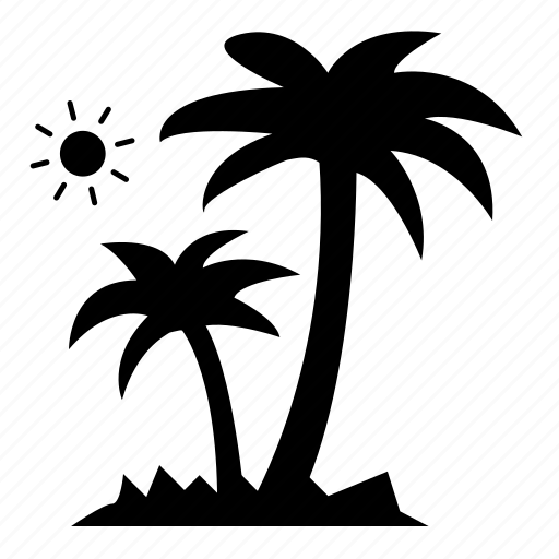beach, coconut, coconut trees, nature, palm trees, trees, vacation icon