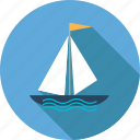 beach, boat, holiday, sea, ship, summer, travel icon