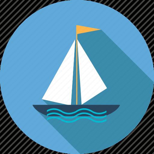 beach, boat, holiday, sea, ship, summer, travel icon