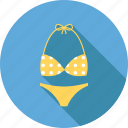beach, bikini, holiday, sea, summer, swim, travel icon