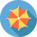 beach, ocean, rain, sea, summer, swimming, umbrella icon