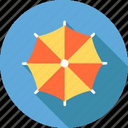 beach, ocean, rain, sea, summer, swimming, umbrella icon