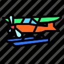 land, float, ocean, water, plane, seaplane, airplane