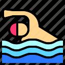 man, nature, island, sea, sport, beach, swimming