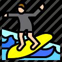 surfing, nature, workout, sea, sport, beach, man