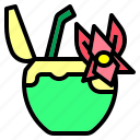 coconut, drink, flower icon