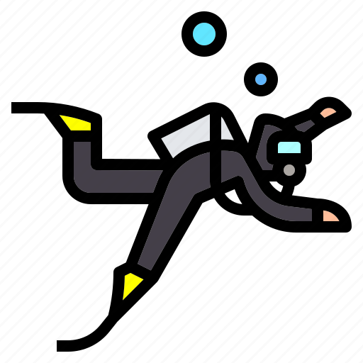 Dive, diving, scuba, sea, snorkel, swimming icon - Download on Iconfinder