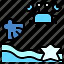 beach, crab, nature, sand, sea, shell, star icon