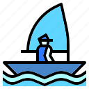 beach, boat, nature, sailboat, sea, ship icon