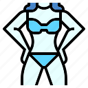 beach, bikini, girl, sexy, suit, swim, woman icon