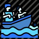 boat, canoe, kayak, paddle, sport icon