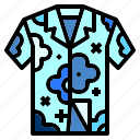 clothes, clothing, flower, garment, hawaii, hawaiian, shirt icon