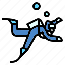 dive, diving, scuba, sea, snorkel, swimming icon