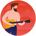 beach music, beach party, entertainer, guitarist, musician icon