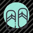 flipflops, footwear, sandals, slippers icon