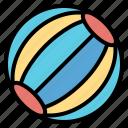 ball, beach, fun, leisure icon