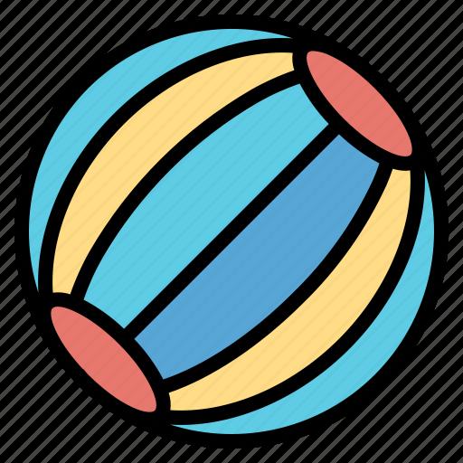 Ball, beach, fun, leisure icon - Download on Iconfinder