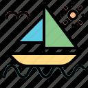 boat, cruise, sailboat, ship, transportation icon