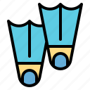 dive, diving, equipment, flipper, swimming icon