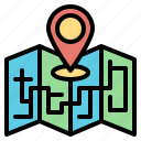 interface, location, map, orientation, position icon
