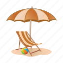 beach, chair, sand, sunbeam, umbrella, vacation icon