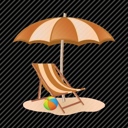 beach, chair, sand, sunbeam, umbrella, vacation icon