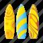 beach, board, sport, swirl, wave icon