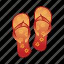 beach, slipers, slipper, wear