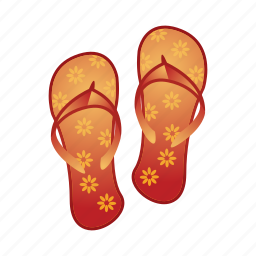 beach, slipers, slipper, wear icon