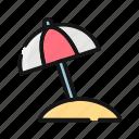 beach, heat, hot, rain, summer, sun, umbrela