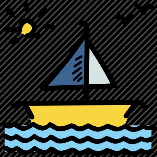 boat, marine, sea, ship icon
