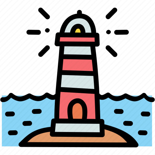 direction, guide, lighthouse, sea icon