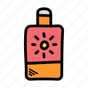 beach, outdoors, summer, sunscreen icon