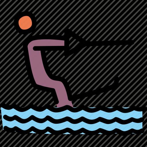 activity, beach, summer, wakeboarding icon