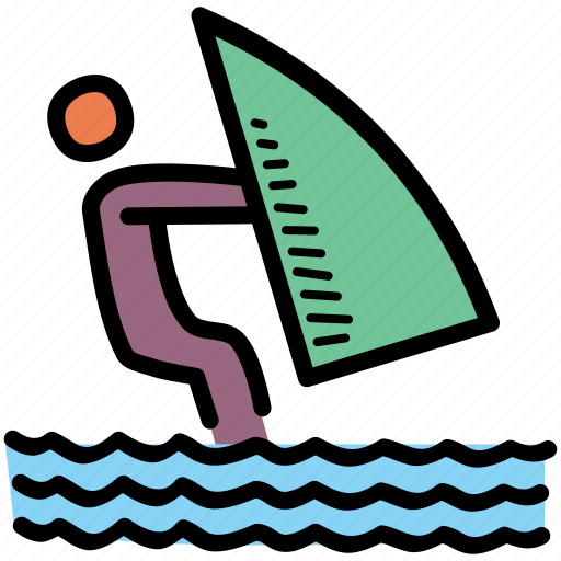 activity, beach, wakeboarding, yacht icon
